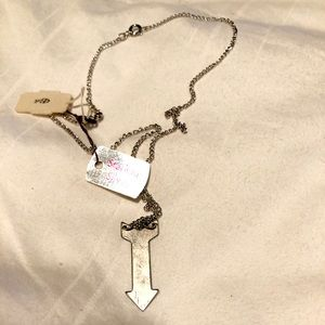 NWT Sterling Silver Arrow 15.5 Necklace